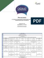 CADAAD 2016 Programme
