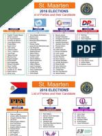 Sint Maarten Elections 2016