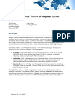 Operational Analytics the Role of Integrated Systems