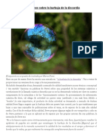Reflexiones Sobre La Burbuja de La Discordia