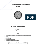 M.tech Syllabus for VLSI