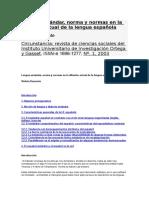 Demonte- Lengua Estándar, Norma y Normas en La Difusión Actual de La Lengua Española