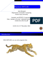 Matlab Fast 2012 Fsu