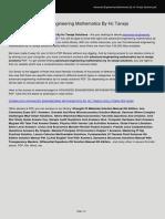 Advanced Engineering Mathematics by Hc Taneja Solutions