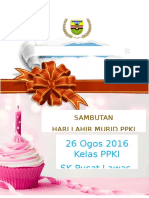 Sambutan Birthday Ppki
