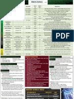 Rules Summary - Matrix