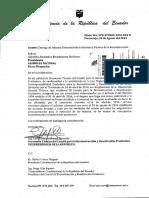 Entrega de Informe Trimestral de la Secretaría Técnica de la Reconstrucción