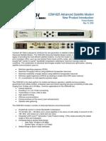 CDM-625 Product Bulletin