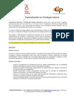 Curso de Especialización en Psicología Laboral (2016)