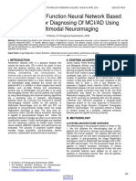 Radial Basis Function Neural Network Based Classifier for Diagnosing of Mciad Using Multimodal Neuroimaging