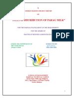 Sales and Distribution of Prag Milk(Sandeep Gupta)