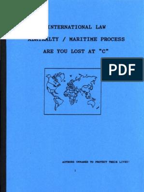 International Law, Admiralty, Maritime Process, Form #09 061