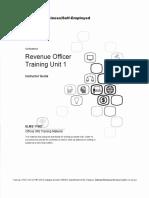 Revenue Officer Training Unit 1, Form #09.064