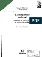 La Inexplicable Sociedad (Klimovsky e Hidalgo)