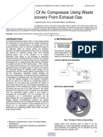 Compounding of Ac Compressor Using Waste Heat Recovery From Exhaust Gas