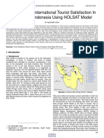 Evaluation of International Tourist Satisfaction in Weh Island Indonesia Using Holsat Model