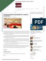 """26-08-16 Participa Rogelio Díaz Brown en @Claudia y su Partido"""""""