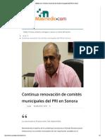 26-08-16 Continua renovación PRI en Sonora