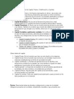 Concepto de Pasivo y Capital, Clasificación de sus cuenta y de Capital