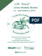 Warrenton Horse Show program 2016