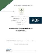 Ministerios Gubernamentales de Guatemala