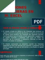 Funciones Finacieras en Excel