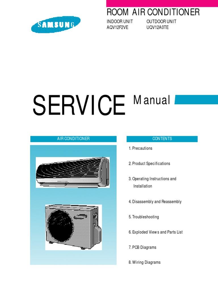 samsung aqv12.pdf   Air Conditioning   Hvac