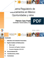 Esquema Regulatorio de Medicamentos en México