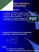 Estatística x Antropometria