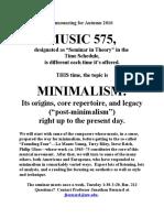 575minimalism Poster