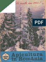 Apicultura in Romania 1985 Nr1 Ianuarie