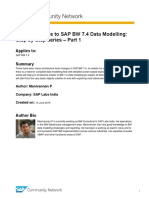 Complete Guide to SAP BW 7.4 Data Modelling Step by Step Series Part 1