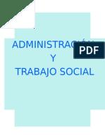 Administración y Trabajo Social