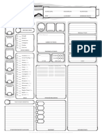 Dungeons and Dragons Next Character Sheet