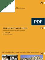 La Vivienda Taller de Proyectos III