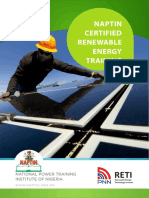 Naptin Certified Renewable Energy Training - Course Content
