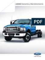 Manual Garantia y Mantenimiento Ford f4000