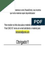 OAB XX RETA FINAL ( Material de Estudo e Vídeo Aulas)
