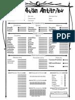 Malkavian Antitribu 4 Page Sheet