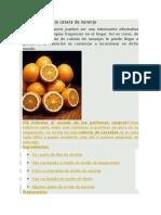 Receta de Colstgjhonia Casera de Naranja