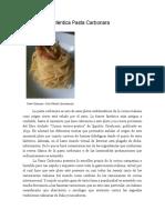 La Clásica y Auténtica Pasta Carbonara