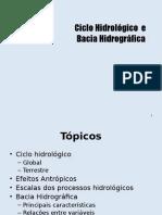 Aula 001 - Hidrologia Básica