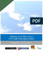 Salarios en el País Vasco. UN PAÍS ENLOQUECIDO