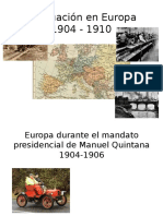 La Situación en Europa 1904-1910