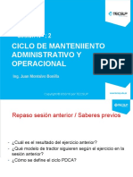 Gestion de Mtto Secion 2 Ciclo de Mantenimiento Admisnistrativo y Operacional