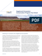 Sagebrush Ecosystem Conservation Program Fact Sheet
