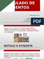 Rotulado y etiquetado de alimentos