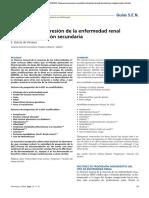 Factores de progresión de la enfermedad renal crónica. Prevención secundaria