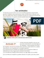 Derechos de Los Animales Affinity Petcare