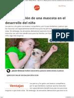 La Contribución de Una Mascota en El Desarrollo Del Niño Affinity Petcare